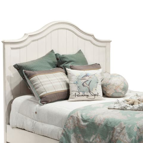 Millbrook Distressed Off-White Arched Panel Headboard by Panama Jack