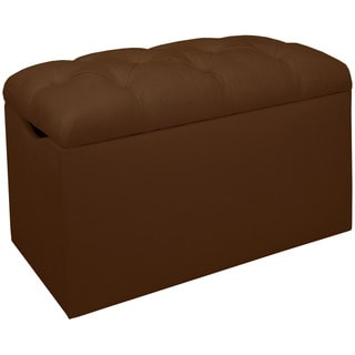 Skyline Furniture Tufted Storage Bench in Micro-suede