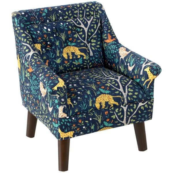 Skyline Furniture Kidu0027s Chair In Folkland Admiral
