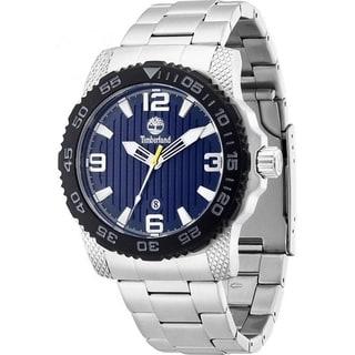 Timberland Sandown Silvertone Stainless Steel Men's Watch