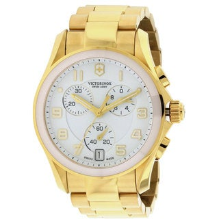 Swiss Army Victorinox Chrono Women's Classic Goldtone Stainless Steel Chronograph Watch