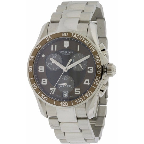 Swiss Army Victorinox Stainless Steel Classic Chronograph Men's Watch