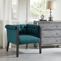 The Gray Barn Gooseneck Beige Linen Chair Free Shipping