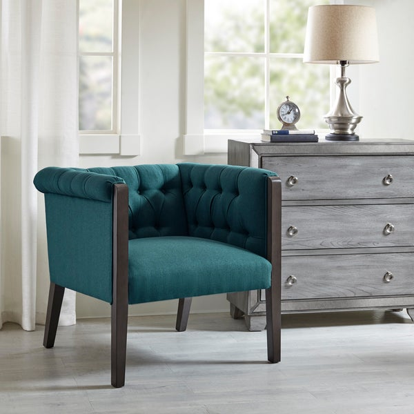 The Curated Nomad Renee Deep Teal Accent Chair Ships