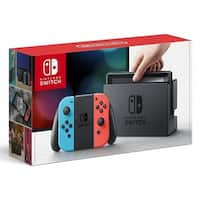 Nintendo Switch with Neon Blue and Neon Red Joy-Controller