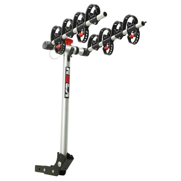 "ROLA®, TX-104 Bike Carrier, 4 Bike, 2"" Sq. Receiver Mount, Folding Dual Arm Rail Rack w/Tilt Function, w/Retractable Cable Lock"
