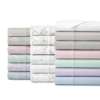Soft and Chic Sweetbrier Solid/Patterned Cotton Sateen Sheet Pillowcases (Set of 2)