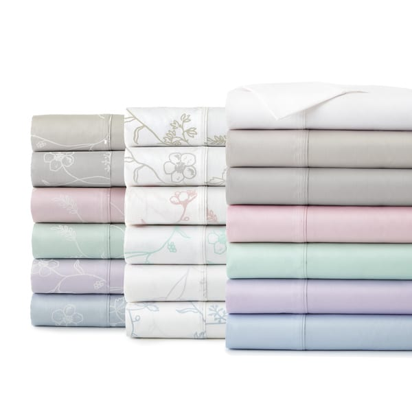 Boutique Chic Sweetbrier Cotton Sateen Pillowcases (Set of 2)