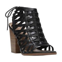 Women's Fergalicious Vizion Caged Sandal Black Synthetic