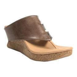Women's MODZORI Sabra Wedge Thong Sandal Beige/Gold/Black
