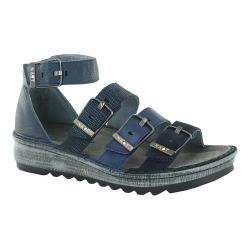 Women's Naot Begonia Ankle Strap Sandal Blue Velvet Suede/Polar Sea/Navy/Ink Leather