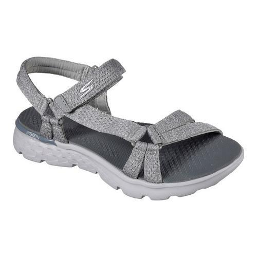 64fc4914dd4f Shop Women s Skechers On the GO 400 Bouncy Sandal Gray - Free Shipping  Today - Overstock - 13819133
