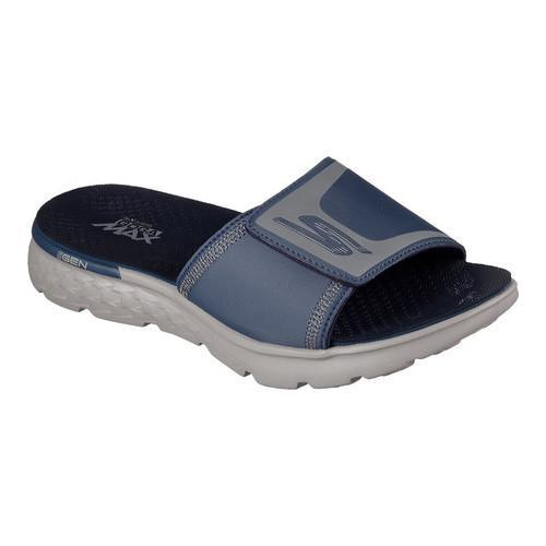 7fd58df61130 Shop Men s Skechers On the GO 400 Cooler Slide Navy Gray - Free Shipping On  Orders Over  45 - Overstock - 13819134