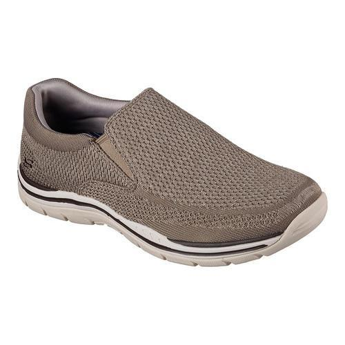 Skechers Expected-Gomel Men's Taupe Relaxed Fit & Extra Wide Fit Slip-on Loafer