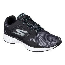 Women's Skechers GOwalk Sport Active Walking Sneaker Black/Aqua
