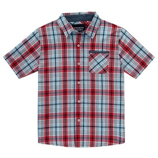 French Toast Boys' Short-sleeve Plaid Shirt