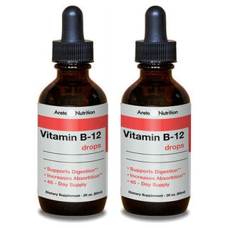 Arete Nutrition 2-ounce Vitamin B-12 Drops (Pack of 2)