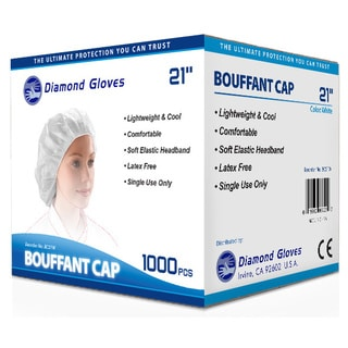 White Disposable Bouffant Hairnet Caps (1,000 pieces per Case)