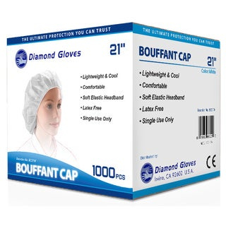 White Disposable Bouffant Hairnet Caps (1,000 pieces per Case)