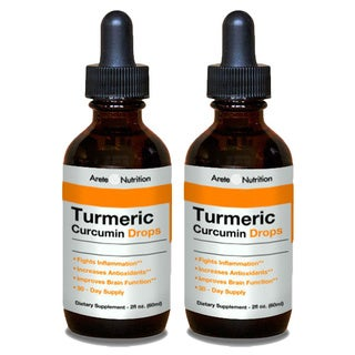 Arete Nutrition 2-ounce Turmeric Curcumin Drops (Pack of 2)