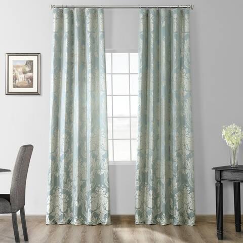 Exclusive Fabrics Magdelena Faux Silk Jacquard Curtain (1 Panel)