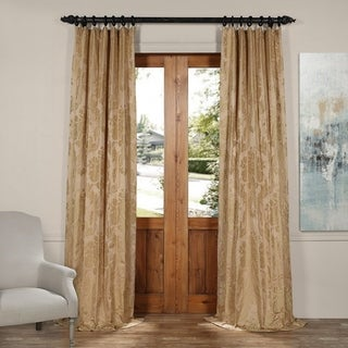 "Exclusive Fabrics Magdelena Faux Silk Jacquard Curtain, 50""W x (84"" - 120"")L (More options available)"