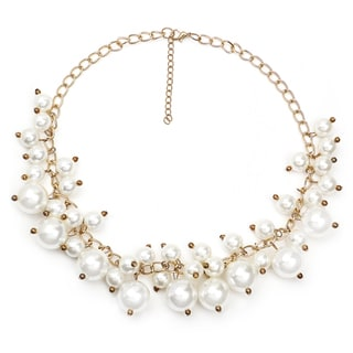 Liliana Bella Gold-plated White Pearl Multi-strand Fashion Necklace
