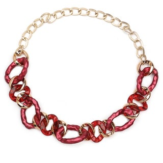 Liliana Bella Goldplated Pink Fashion Handmade Link Necklace