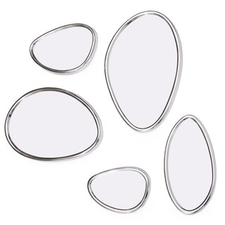Set of 5 Adjustable Mirrors Pebbles in Organic Form