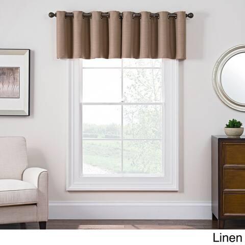 Style Decor Antique Satin Room-darkening Grommet Top Window Curtain Valance - 52 x 18