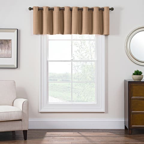 Style Decor Antique Satin Room-darkening Grommet Top Window Curtain Valance - 52 x 18