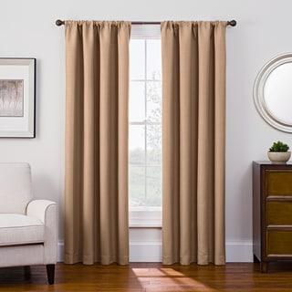 Style Decor Antique Satin Rod Pocket Blackout Curtain