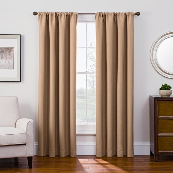 Style Decor Antique Satin Rod Pocket Room-Darkening Curtain. Opens flyout.