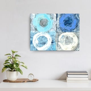 'Circular Squares' Ready2HangArt Canvas by Dana McMillan