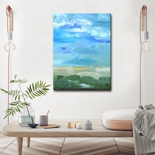 'Bright Blue I' Ready2HangArt Canvas by Dana McMillan