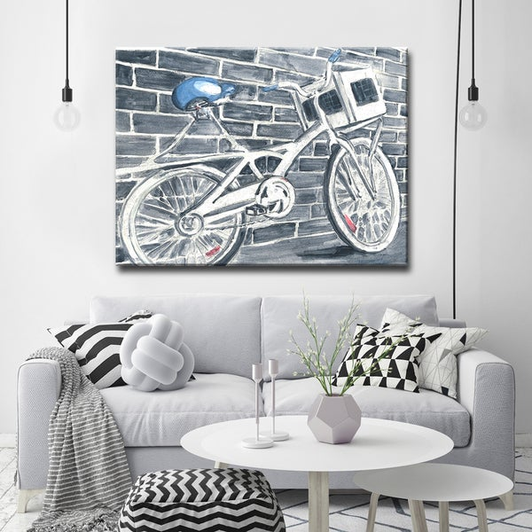 'Blue Bikeseat' Ready2HangArt Canvas by Dana McMillan