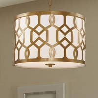 Crystorama Libby Langdon Jennings Collection 3-light Aged Brass Chandelier