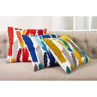 Bright Brushstroke Down Filled Throw Pillow