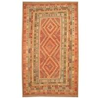 Handmade Herat Oriental Afghan Tribal Wool Mimana Kilim  - 9'9 x 16'5 (Afghanistan)