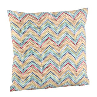 Vintage Inspired Chevron Poly Filled Throw Pillow