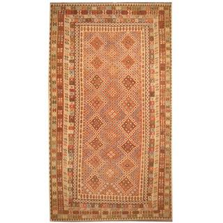 Herat Oriental Afghan Hand-woven Tribal Wool Mimana Kilim (9'8 x 16'5)