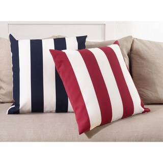 Classic Wide Stripe Poly Filled Throw Pillow