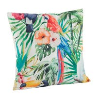 Parrot Print Poly Filled Throw Pillow