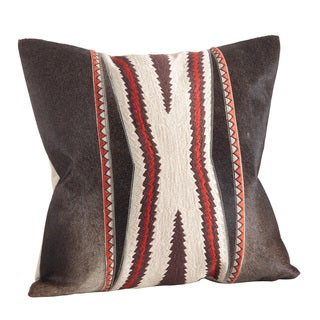 Natural Cowhide & Tribal Down Filled Throw Pillow