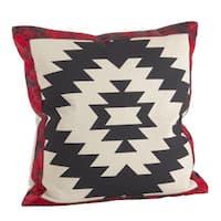 Red & Black Geometric Tribal Design Down Filled Pillow