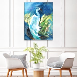 'Heron in Color' Ready2HangArt Canvas by Dana McMillan