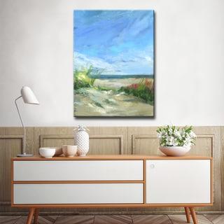 'Flowers & Seagrass' Ready2HangArt Canvas by Dana McMillan