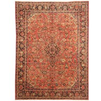 Handmade Herat Oriental Persian 1920s Antique Tribal Mahal Wool Rug (Iran) - 9'2 x 12'2