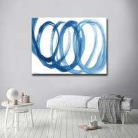 Ready2HangArt 'Loopy Blue' Canvas Wall Art - Blue/White
