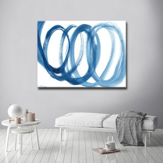 Carson Carrington 'Loopy Blue' by Dana McMillan Art Canvas - Blue/White